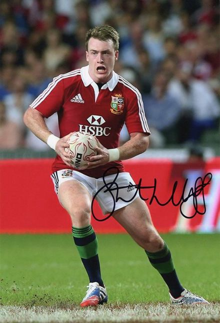 Stuart Hogg, British & Irish Lions, signed 12x8 inch photo.